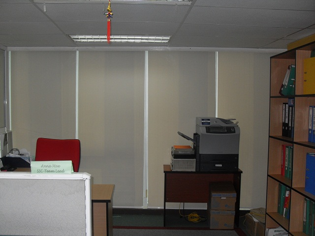 Installed Roller Blinds at Ayala Ave. Makati City Philippines
