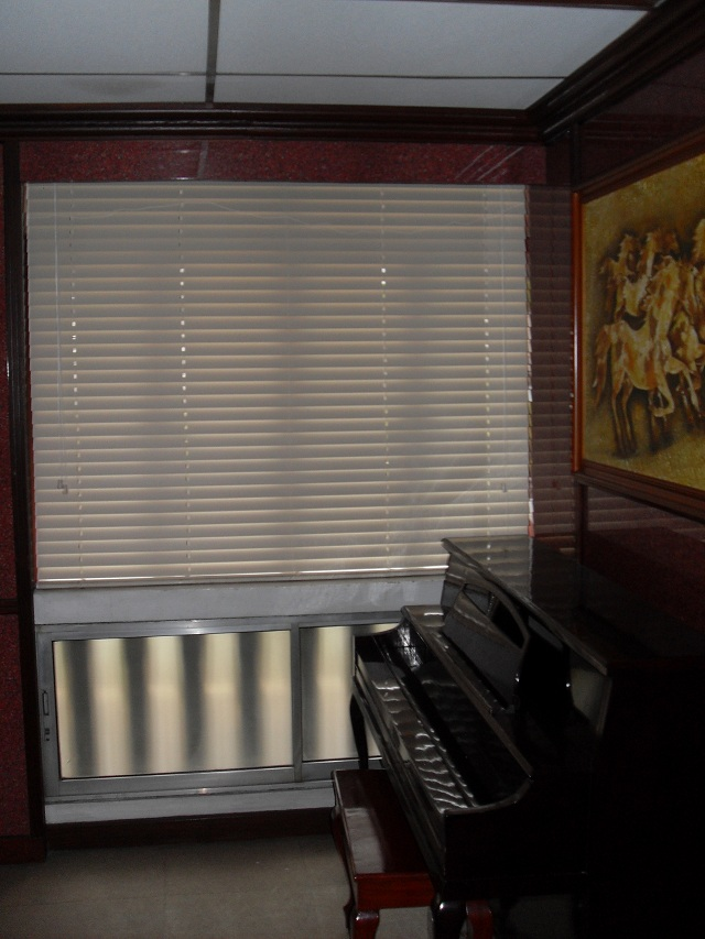 Faux Wood Blinds: White