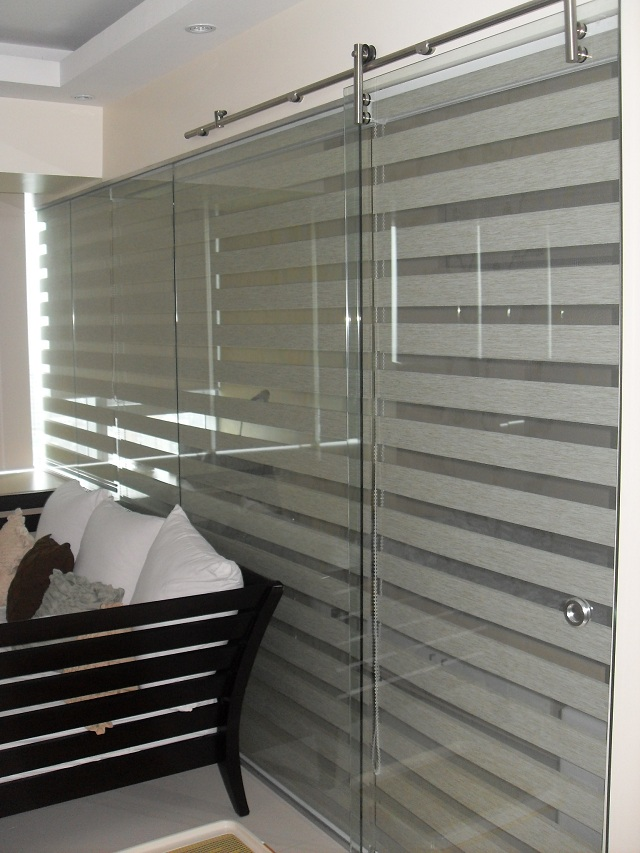Combi blinds G302 Rattan Installed at Cainta Rizal, Philippines