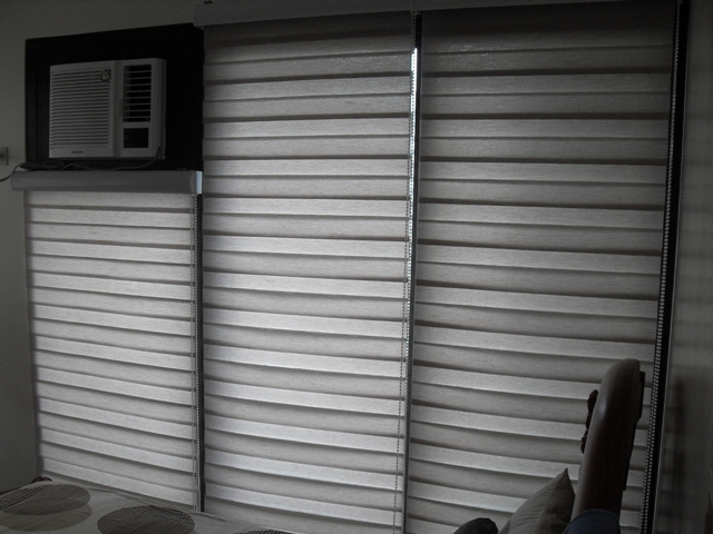 Combi Blinds G204 Emperador, Installed at Manila, Philippines