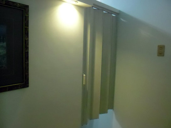 Half Hanged Accordion Door Installed at Parañaque City, Philippines