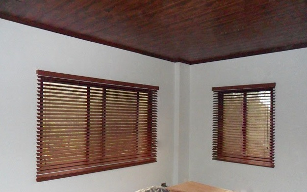 Installation of Fauxwood Blinds at Pioneer Highlands, Mandaluyong City, Philippines