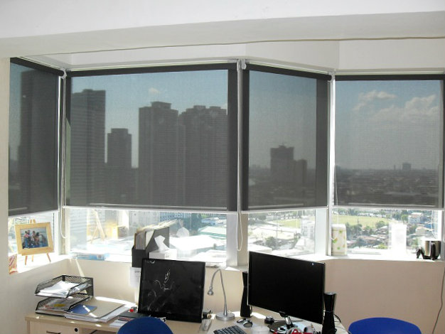 Light Filtering Roller Blinds Installed at Alabang Metro Manila, Philippines