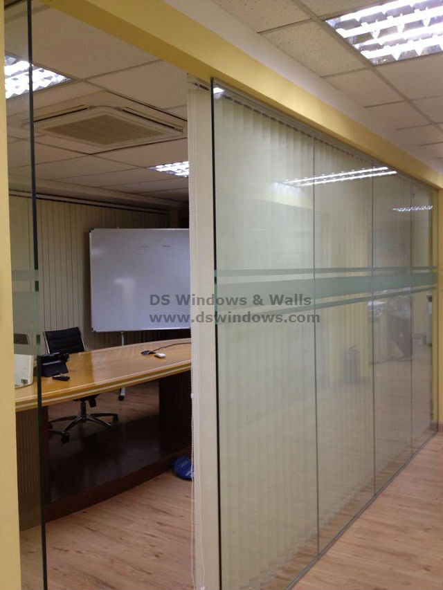 Fabric Vertical Blinds Installed in Makati City