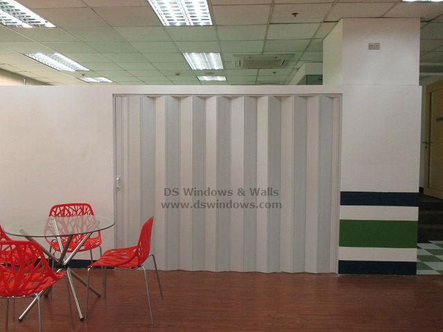 PVC Accordion Door as Customer Lounge Partition Door - United Hills, Parañaque City