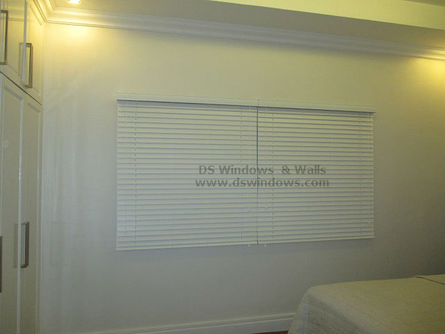 #861 White Wooden Blinds installed at Sariaya Quezon Province, Philippines