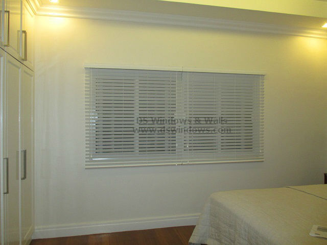 Wooden Blinds for Pure White Bedroom - Sariaya Quezon Province, Philippines