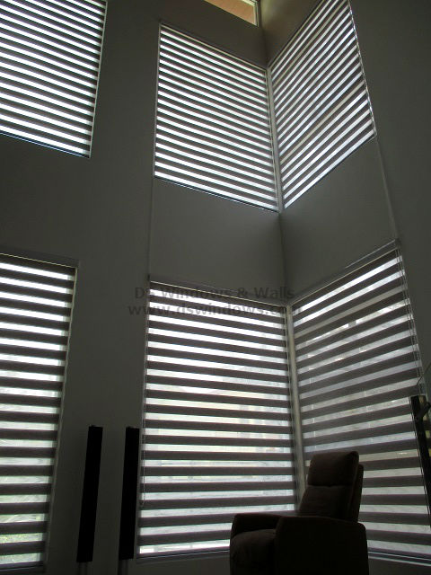 Dual Shade Blinds for High Ceiling Living Room - Alabang Muntinlupa