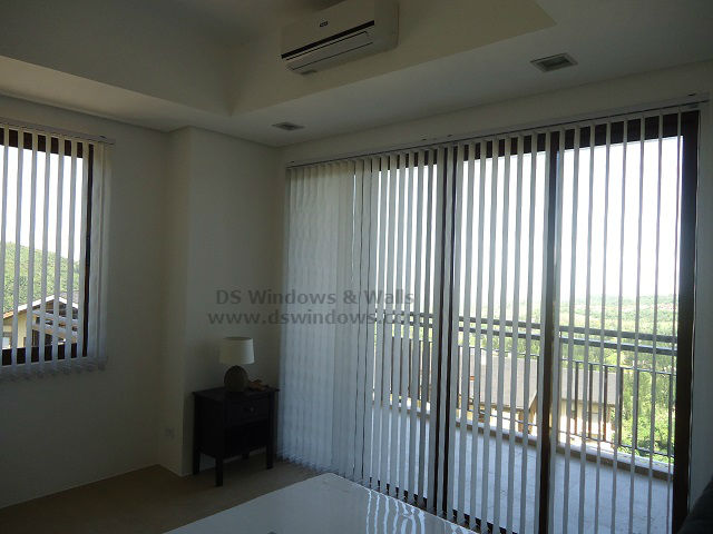 Inexpensive Fabric Vertical Blinds for Bedrooms - Tagaytay City, Philippines
