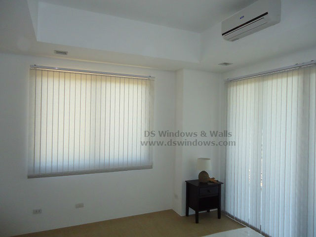 Complete your White-themed Bedroom with Fabric Vertical Blinds - Tagaytay City, Philippines