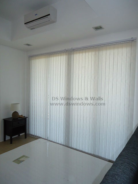 Low Cost Fabric Vertical Blinds installed at Tagaytay City, Philippines