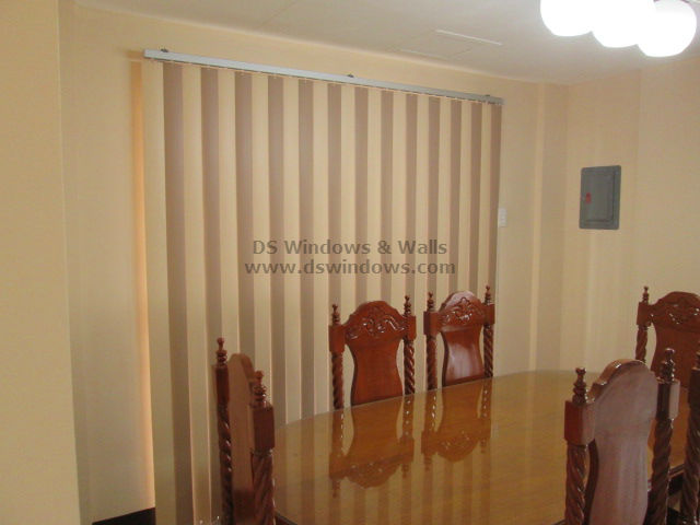 PVC Vertical Blinds installed at Cavite, Philippines
