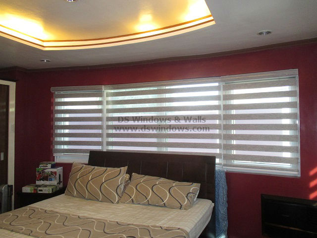 Combi Blinds for Master Bedroom - Tayabas, Quezon Province