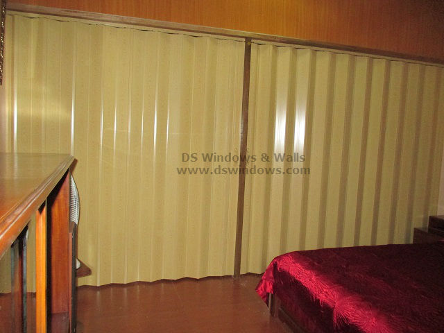 PVC Fodling Door for Bedroom Aircon Efficiency - Makati Installation