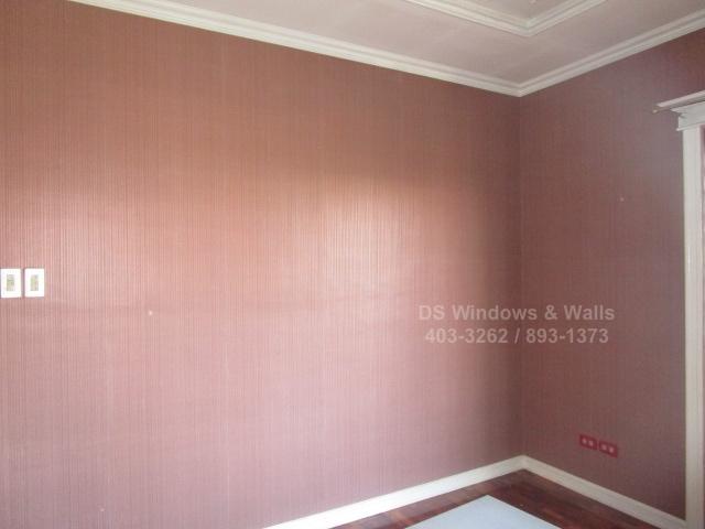 Crystal wallpaper rose color for girls bedroom