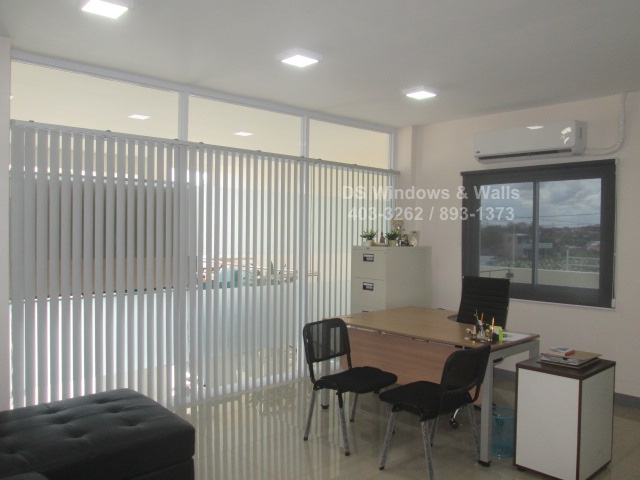 Choosing Roller Shades and Vertical Blinds in an Office in Quezon City