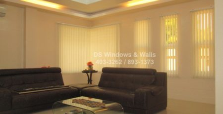 Fabric vertical blinds for living room