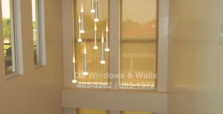 Staircase window shades