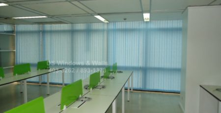 Blue Fabric Vertical Blinds Cavite Installation